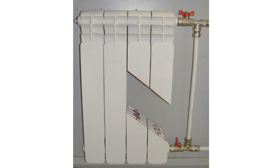 Алюминиевый радиатор отопления в разрезе